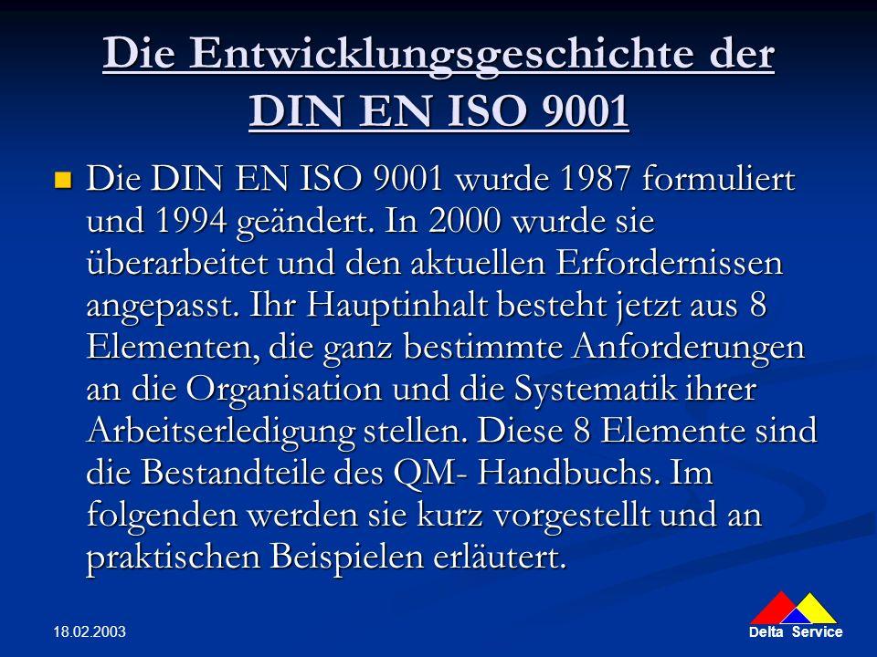 Die Entwicklungsgeschichte der DIN EN ISO 9001