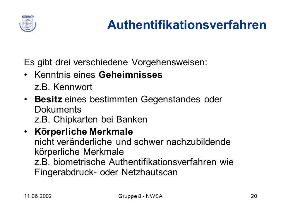 Authentifikationsverfahren