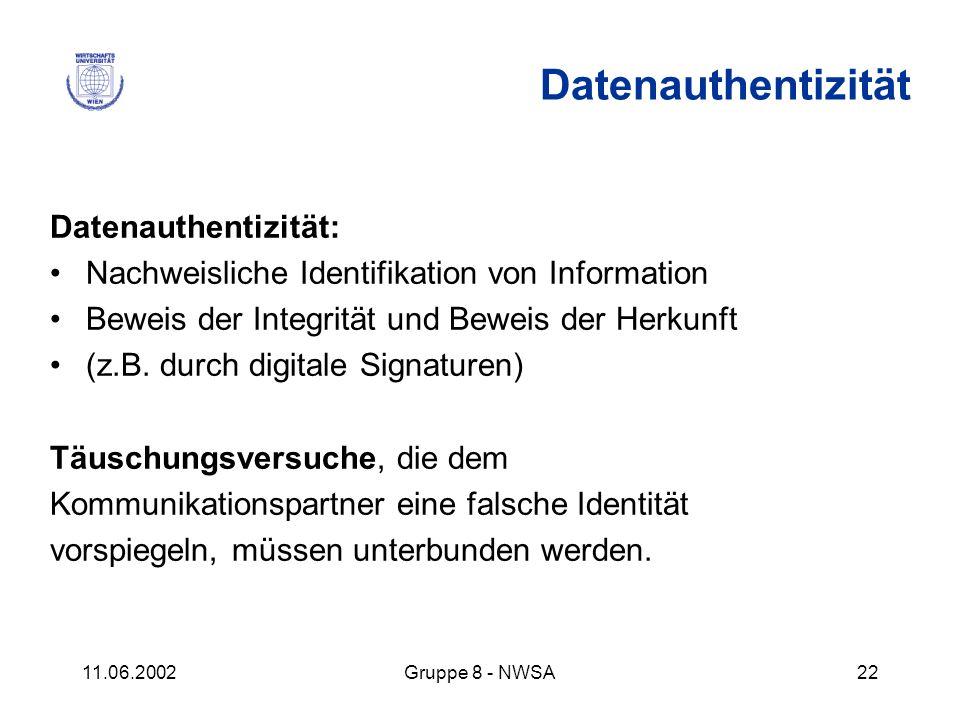 Datenauthentizität Datenauthentizität: