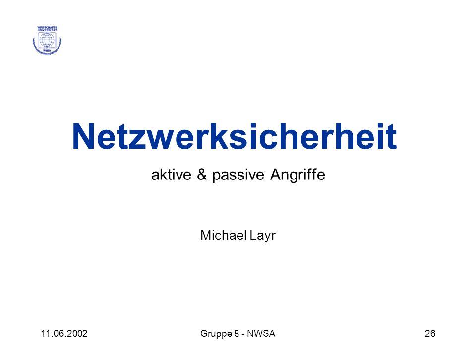 aktive & passive Angriffe Michael Layr