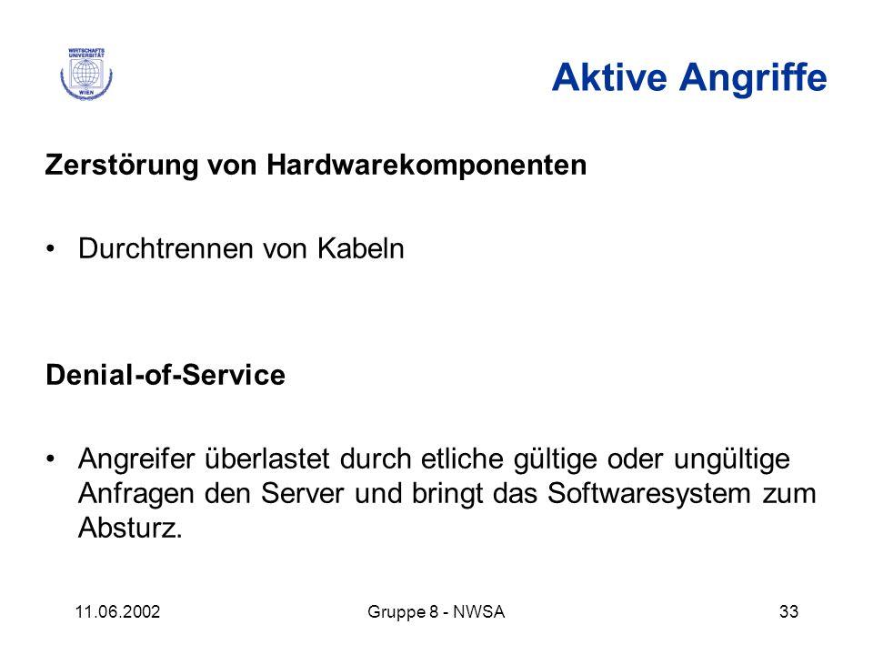 Aktive Angriffe Zerstörung von Hardwarekomponenten