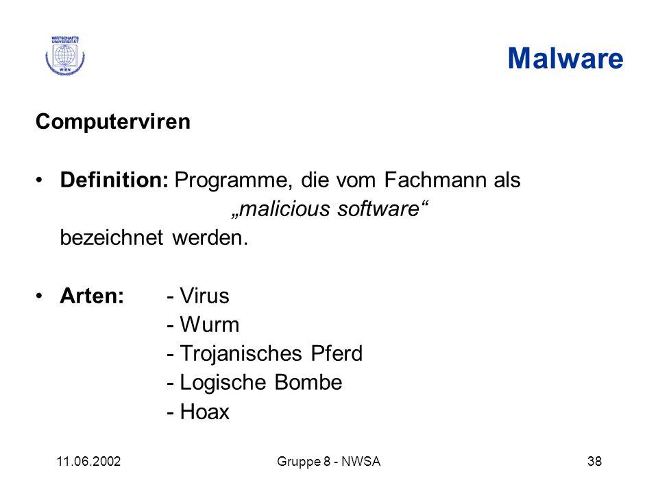Malware Computerviren Definition: Programme, die vom Fachmann als