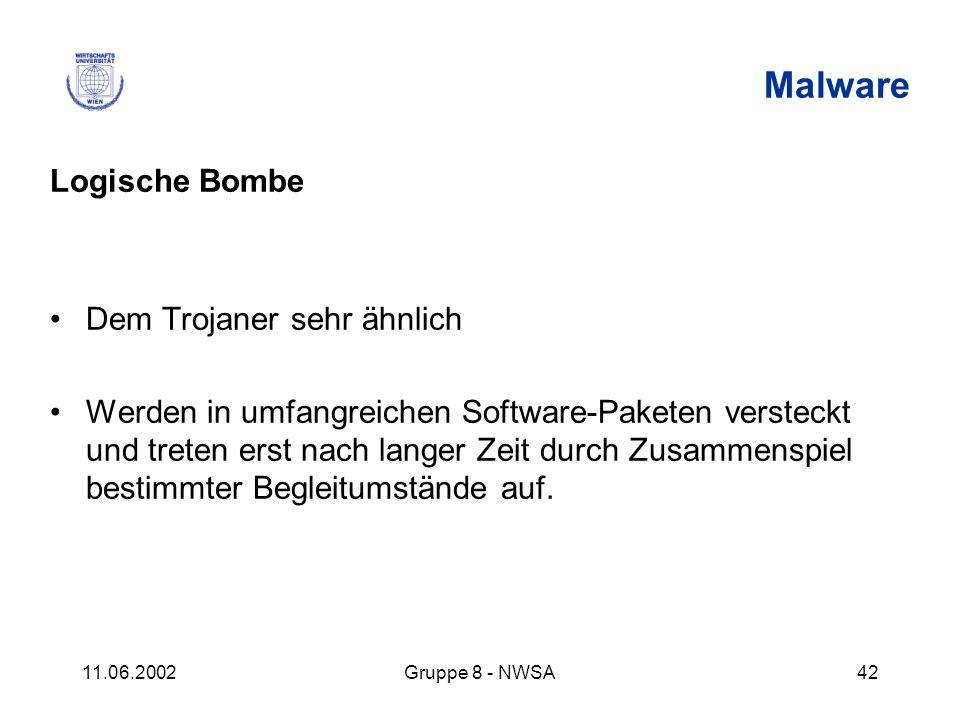 Malware Logische Bombe Dem Trojaner sehr ähnlich