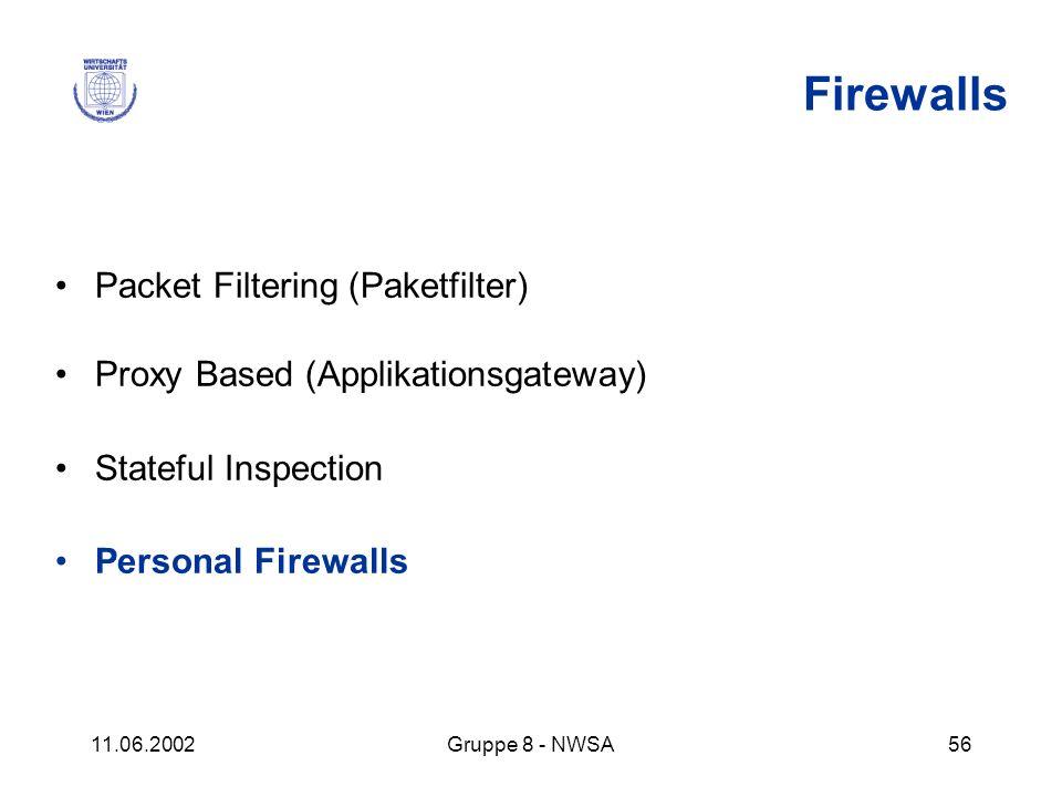 Firewalls Packet Filtering (Paketfilter)