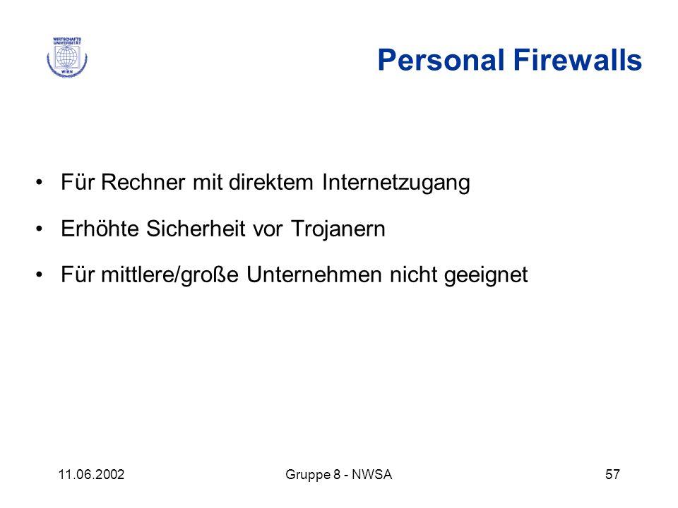 Personal Firewalls Für Rechner mit direktem Internetzugang