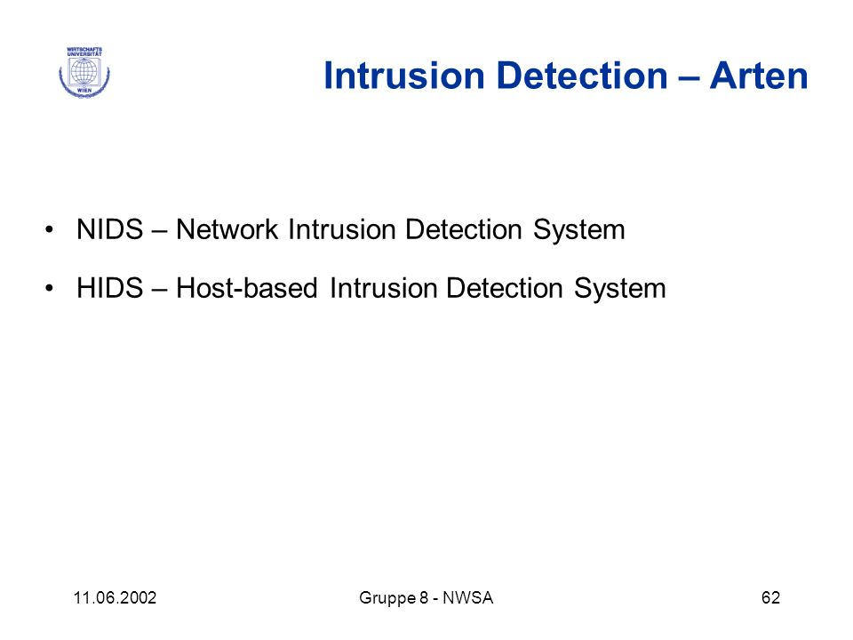 Intrusion Detection – Arten