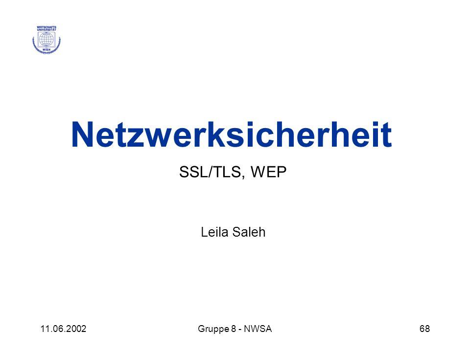 SSL/TLS, WEP Leila Saleh