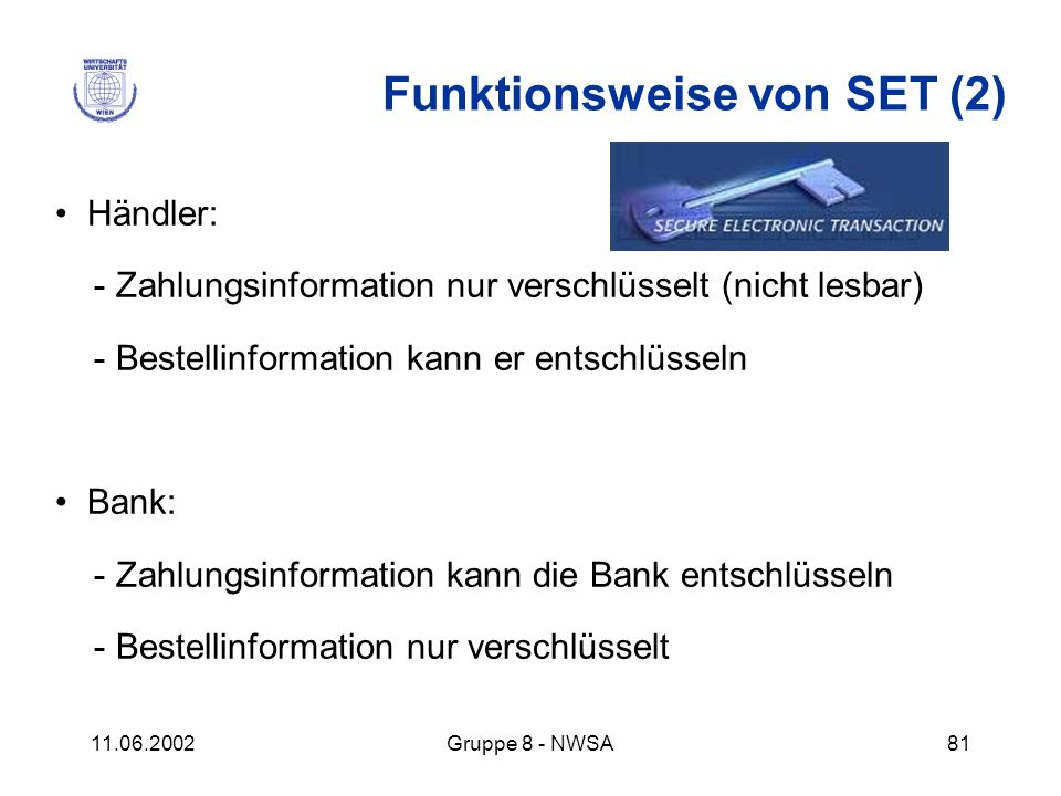 Funktionsweise von SET (2)