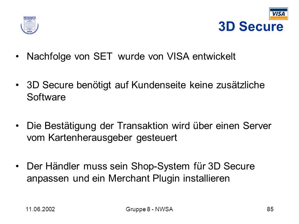 3D Secure Nachfolge von SET wurde von VISA entwickelt
