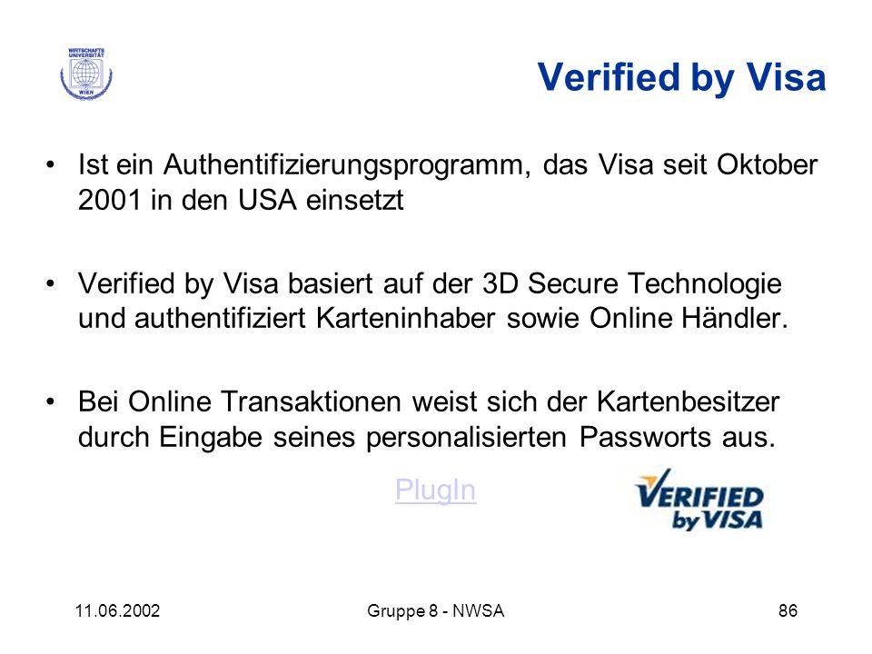 Verified by Visa Ist ein Authentifizierungsprogramm, das Visa seit Oktober 2001 in den USA einsetzt.