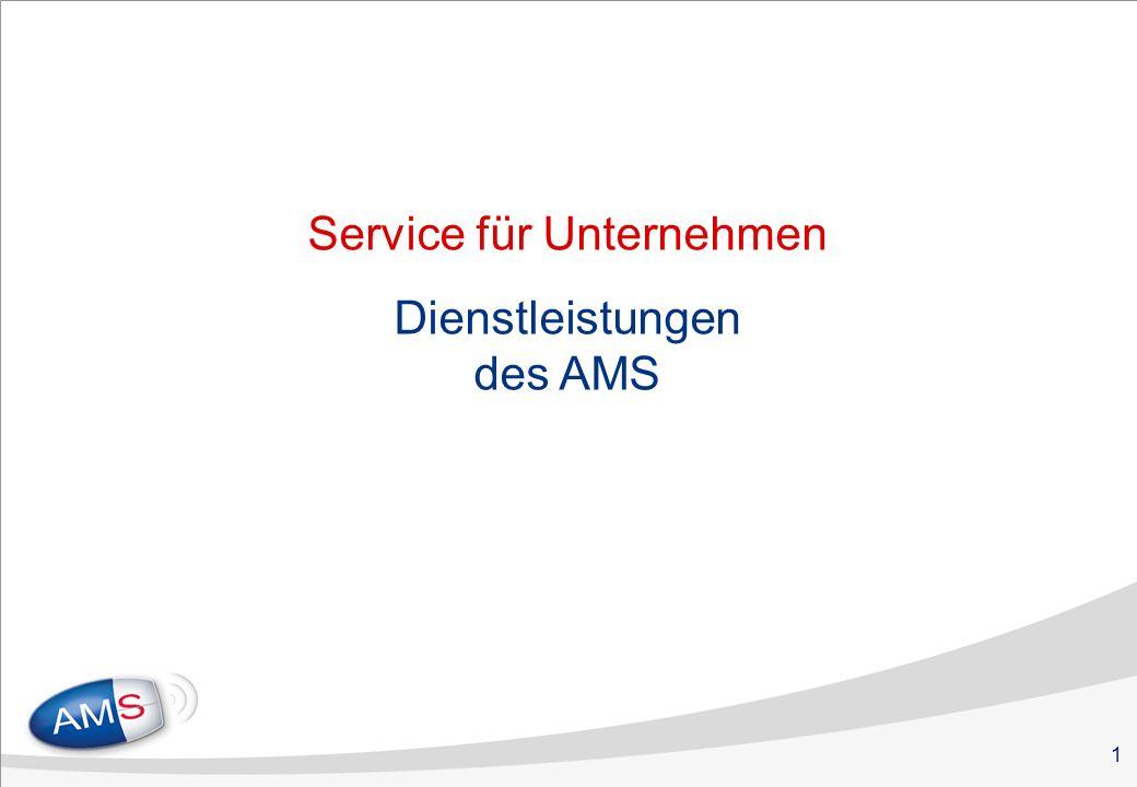 Service für Unternehmen Dienstleistungen des AMS