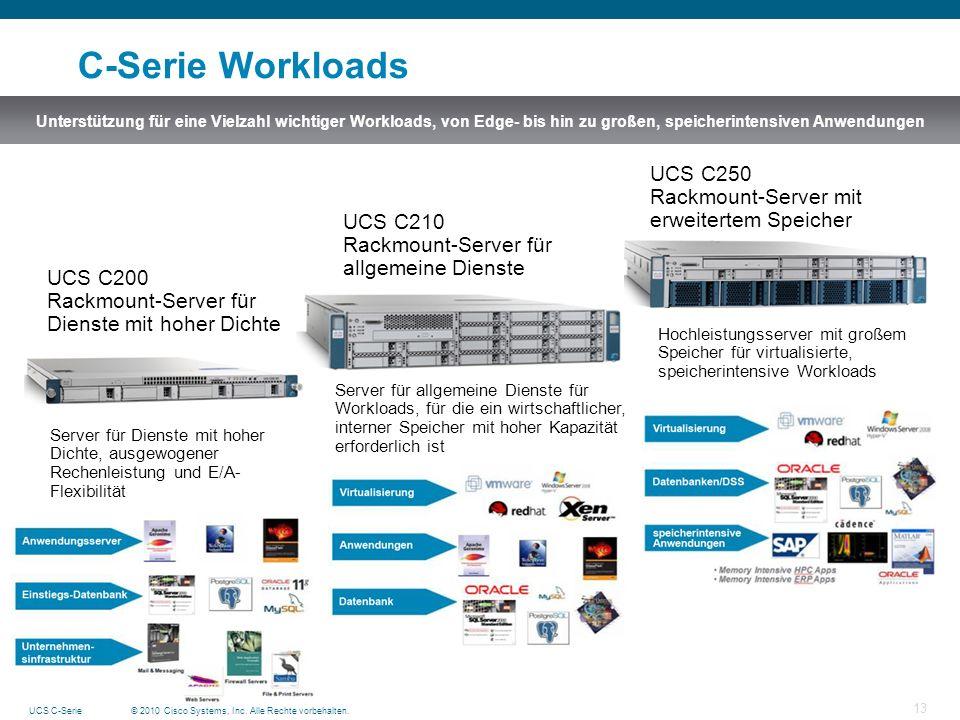 C-Serie Workloads UCS C250 Rackmount-Server mit erweitertem Speicher