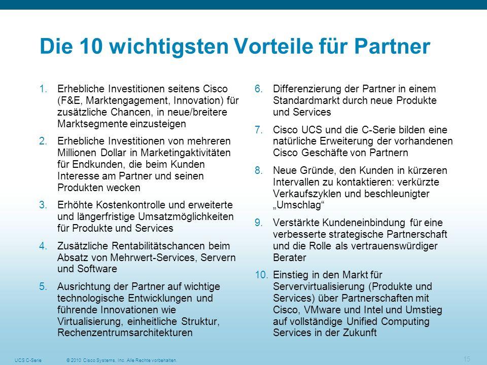 Die 10 wichtigsten Vorteile für Partner