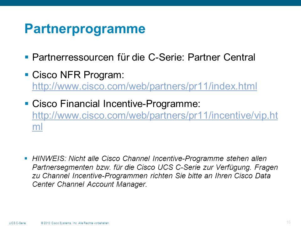 Partnerprogramme Partnerressourcen für die C-Serie: Partner Central