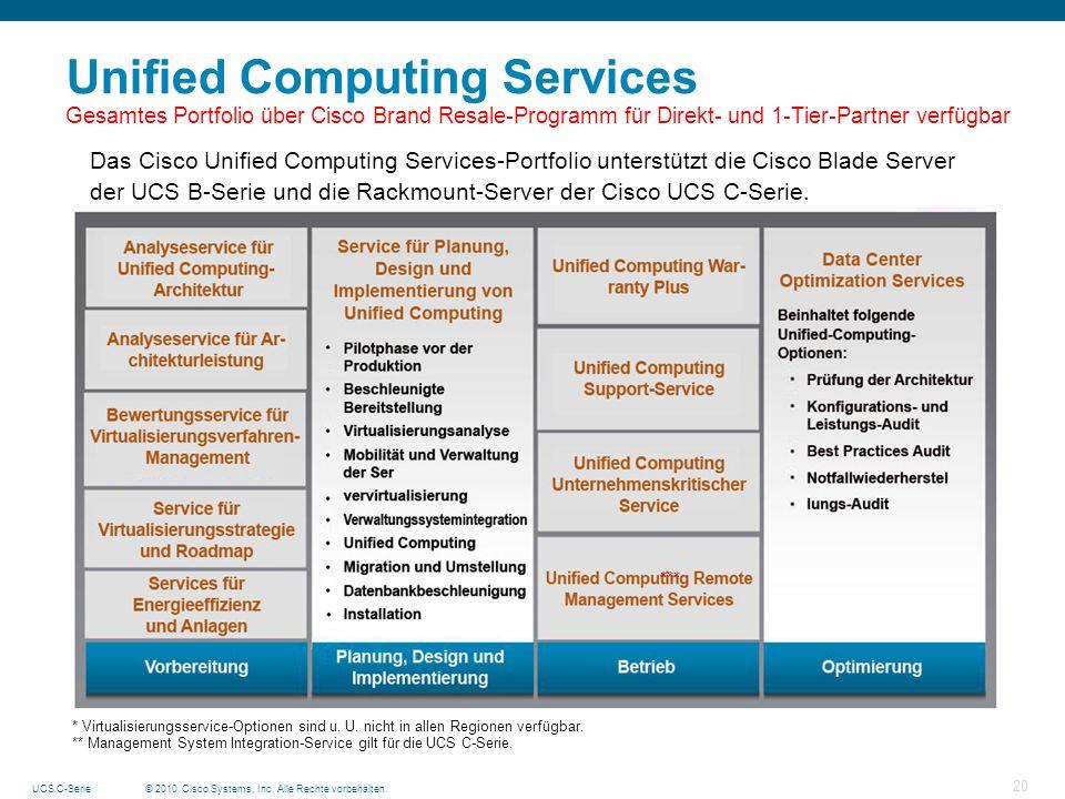 Unified Computing Services Gesamtes Portfolio über Cisco Brand Resale-Programm für Direkt- und 1-Tier-Partner verfügbar