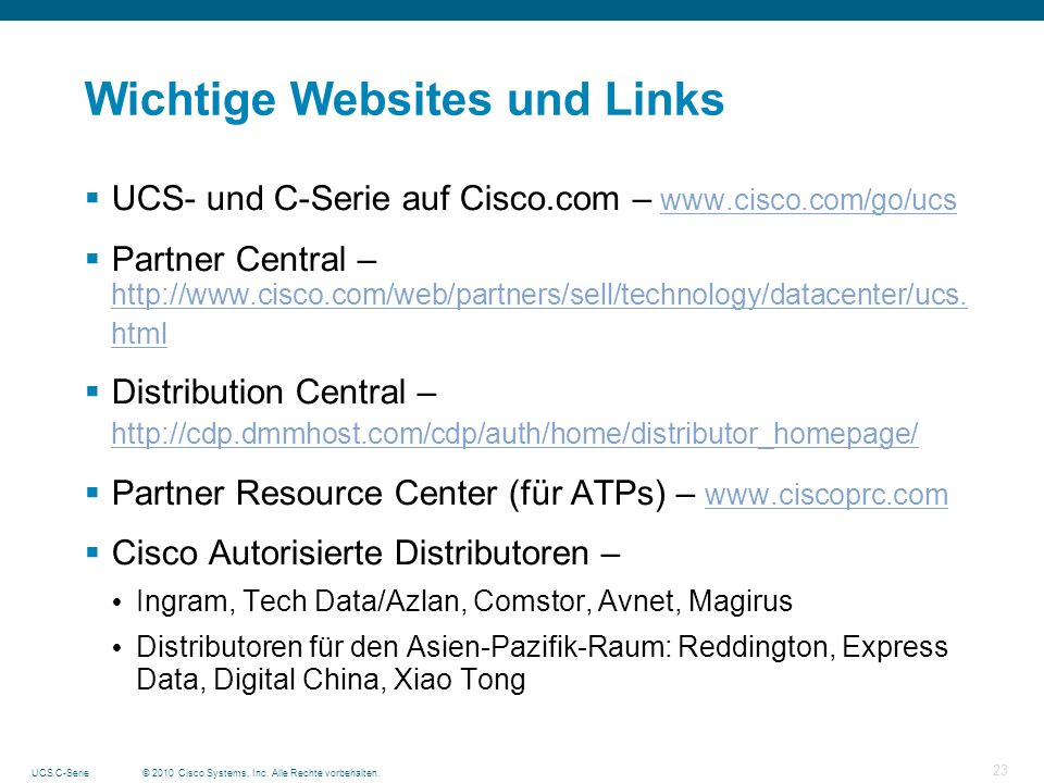Wichtige Websites und Links