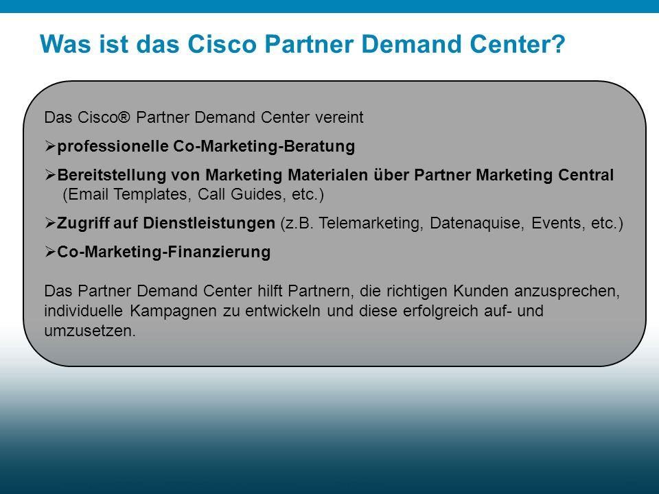 Was ist das Cisco Partner Demand Center