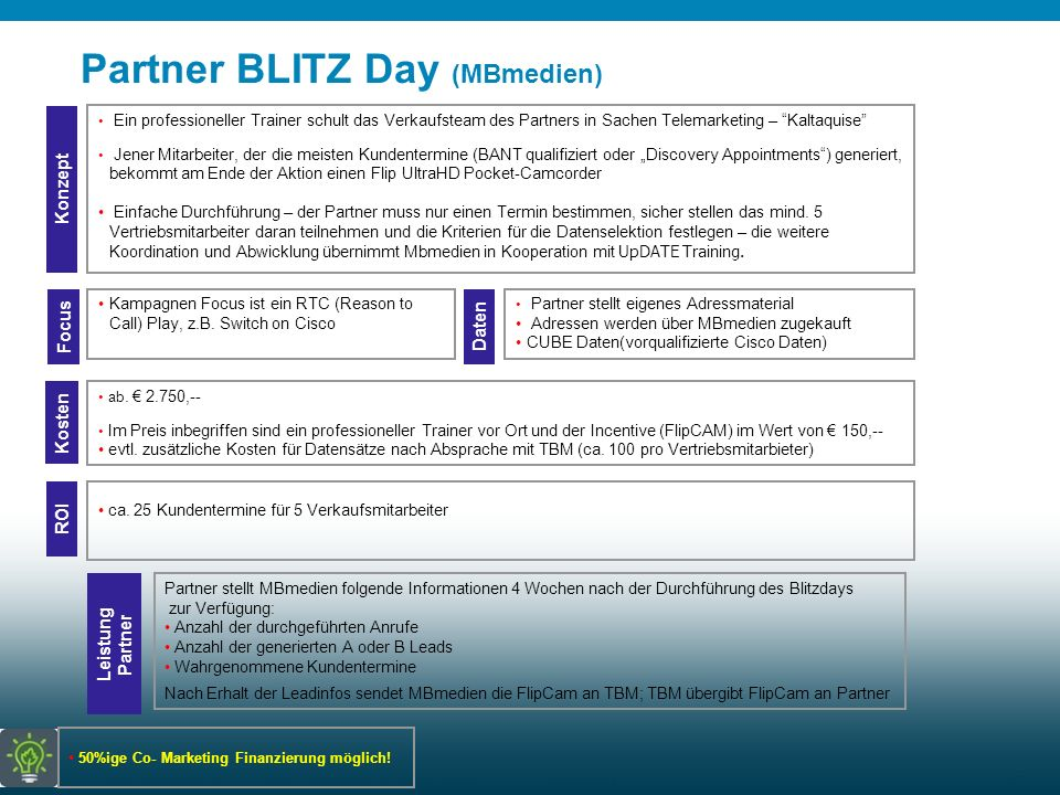 Partner BLITZ Day (MBmedien)