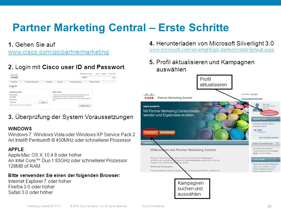 Partner Marketing Central – Erste Schritte