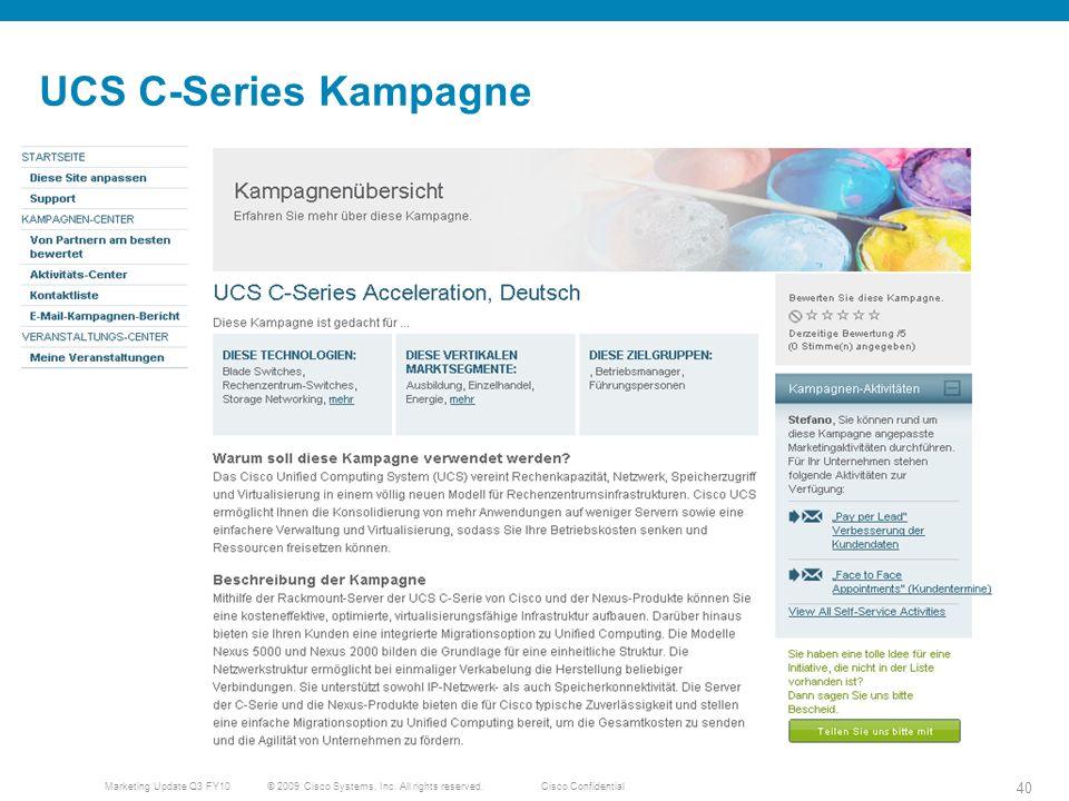 UCS C-Series Kampagne