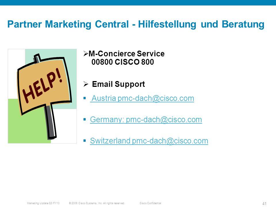 Partner Marketing Central - Hilfestellung und Beratung