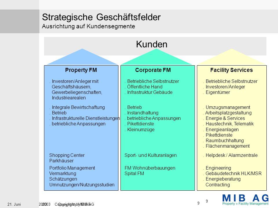 Strategische Geschäftsfelder Ausrichtung auf Kundensegmente