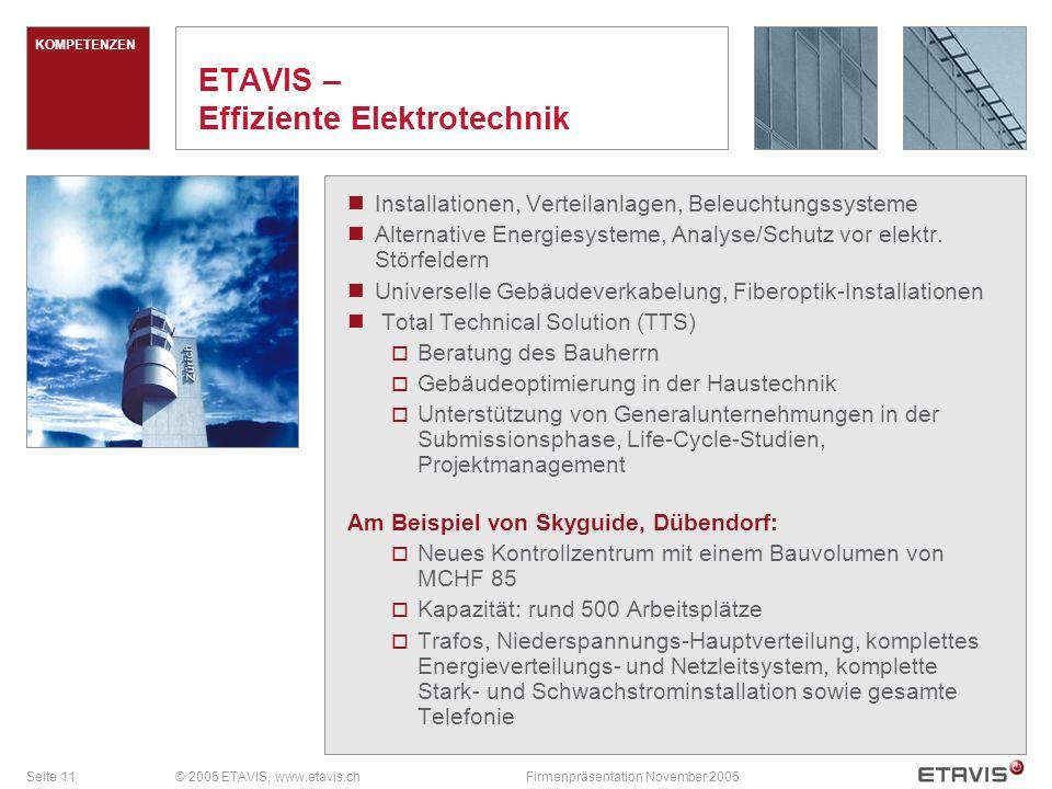 ETAVIS – Effiziente Elektrotechnik