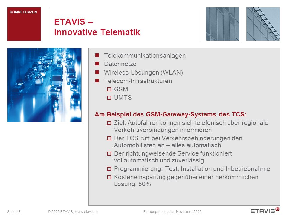 ETAVIS – Innovative Telematik