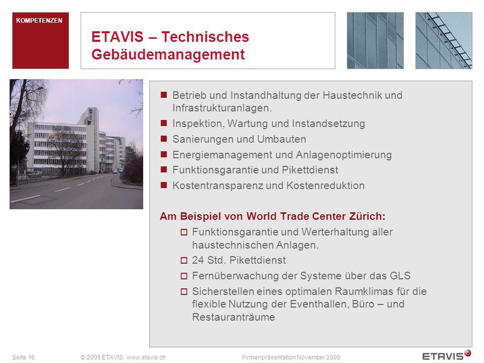 ETAVIS – Technisches Gebäudemanagement