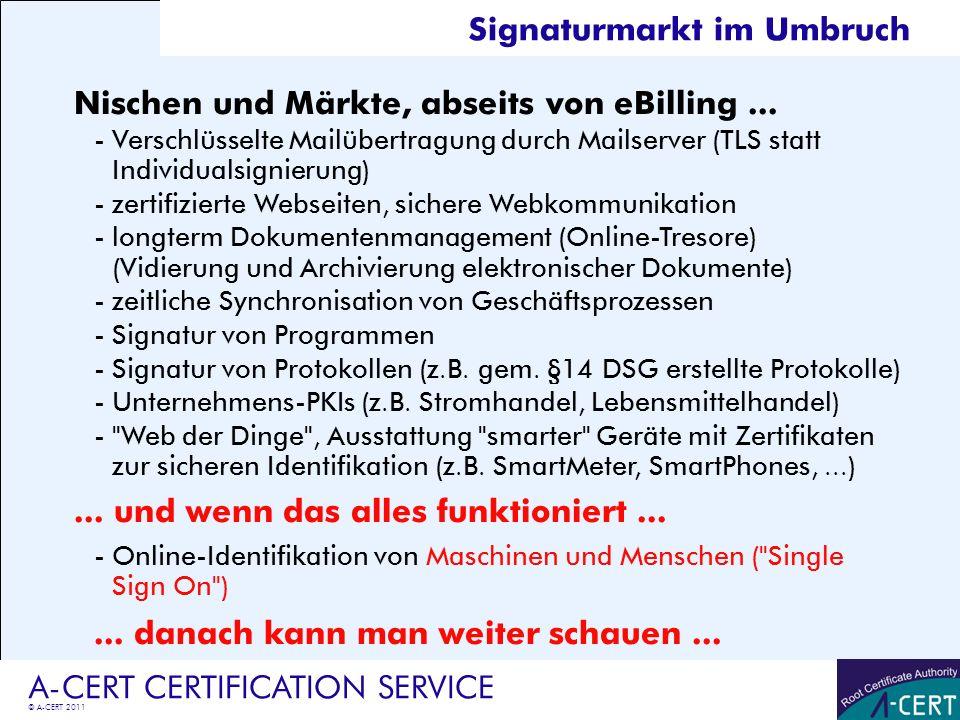 Signaturmarkt im Umbruch
