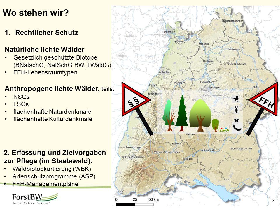 Wo stehen wir § § FFH Rechtlicher Schutz Natürliche lichte Wälder