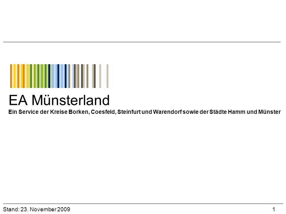 EA Münsterland Ein Service der Kreise Borken, Coesfeld, Steinfurt und Warendorf sowie der Städte Hamm und Münster