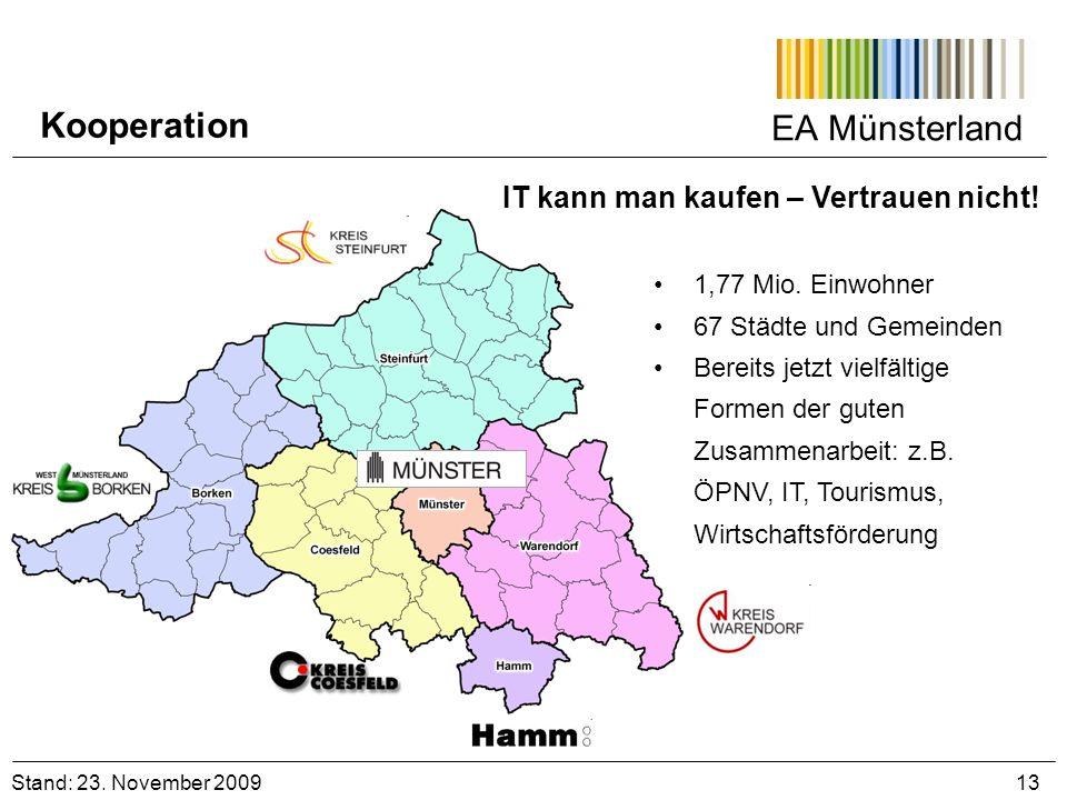 Kooperation EA Münsterland IT kann man kaufen – Vertrauen nicht!