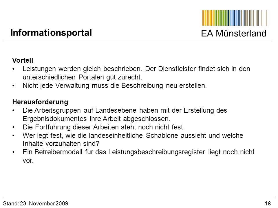 Informationsportal EA Münsterland Vorteil