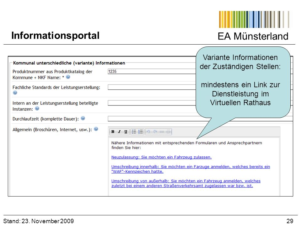 Informationsportal EA Münsterland