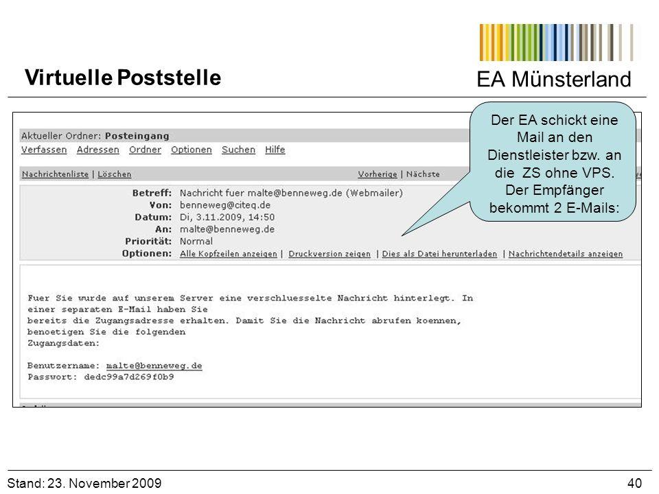 Virtuelle Poststelle EA Münsterland