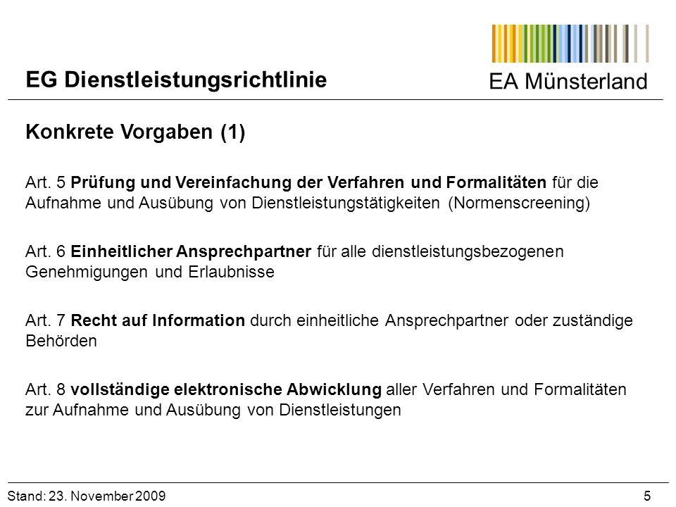 EG Dienstleistungsrichtlinie
