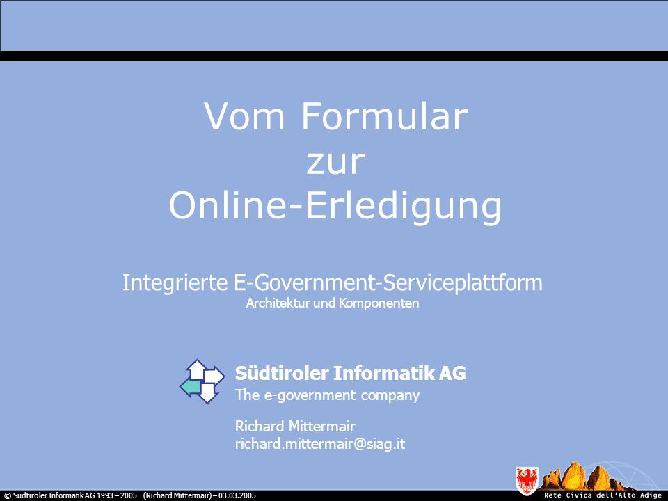 Vom Formular zur Online-Erledigung