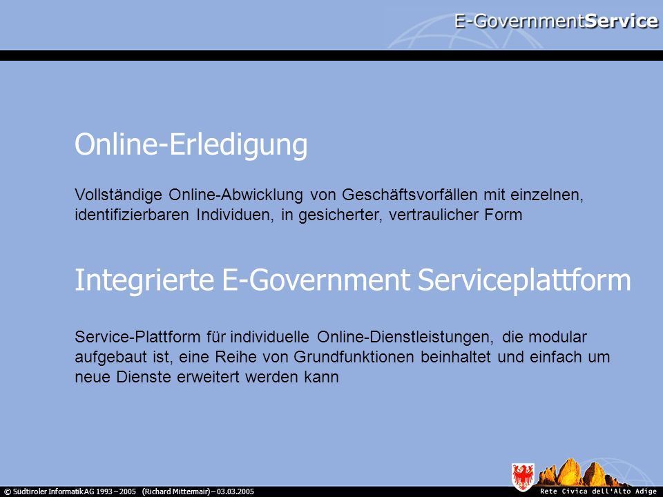 Integrierte E-Government Serviceplattform