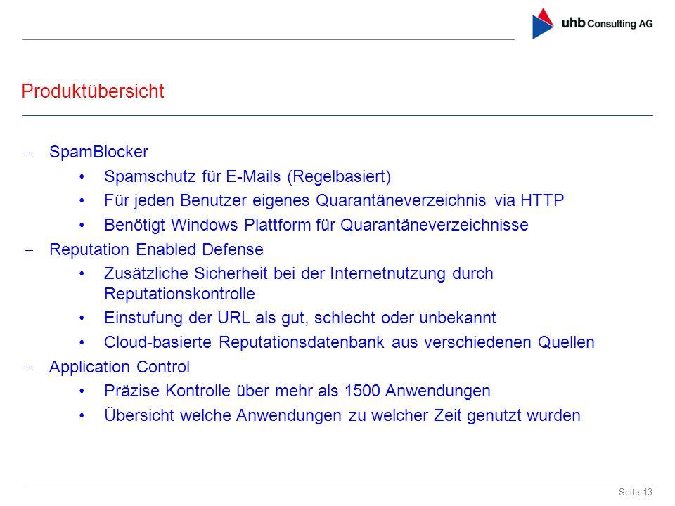 Produktübersicht SpamBlocker Spamschutz für E-Mails (Regelbasiert)
