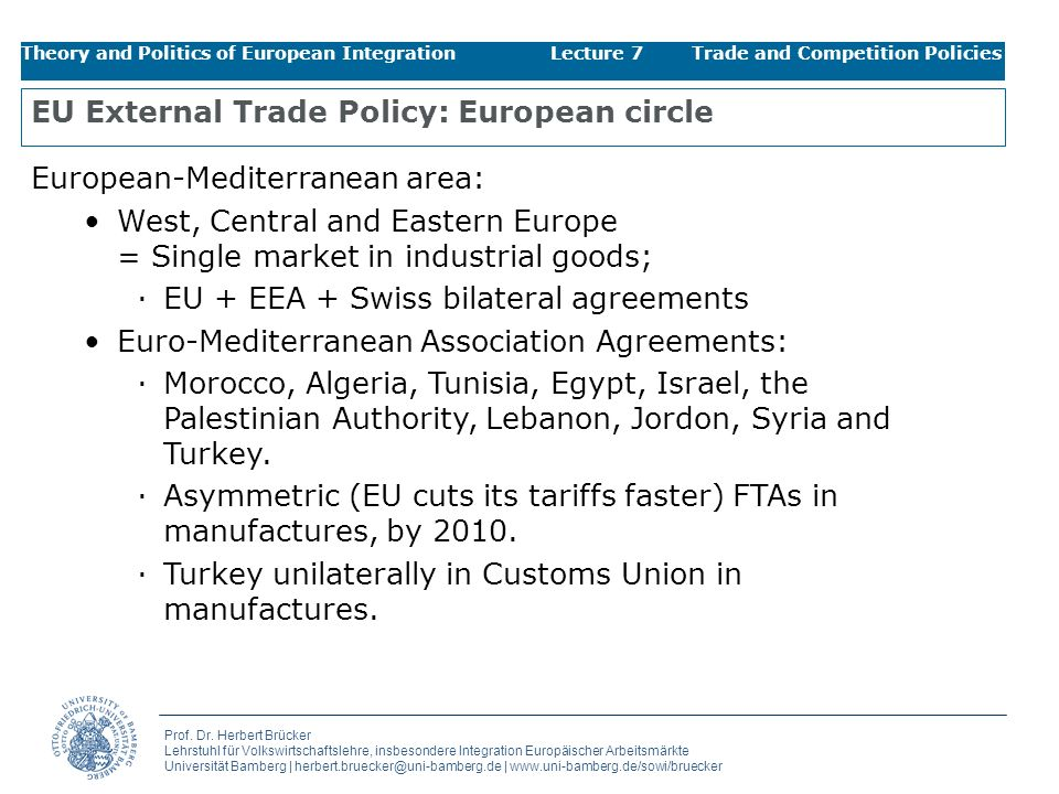 EU External Trade Policy: European circle