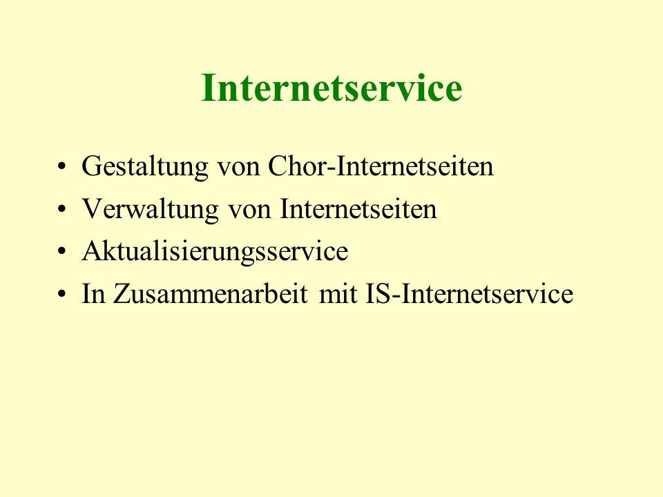 Internetservice Gestaltung von Chor-Internetseiten