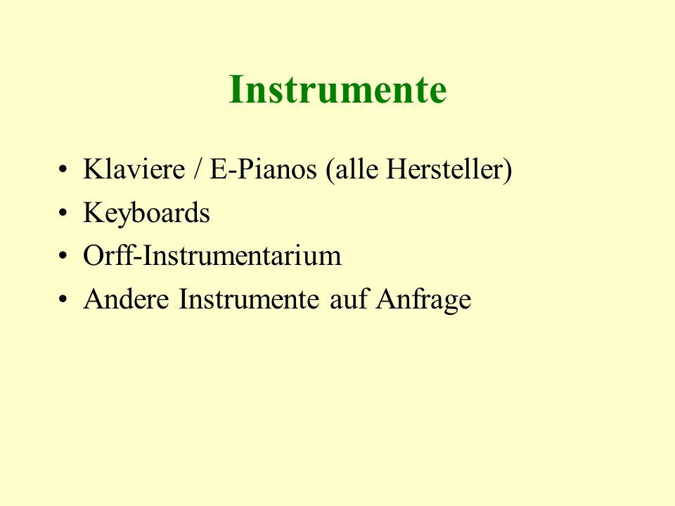 Instrumente Klaviere / E-Pianos (alle Hersteller) Keyboards