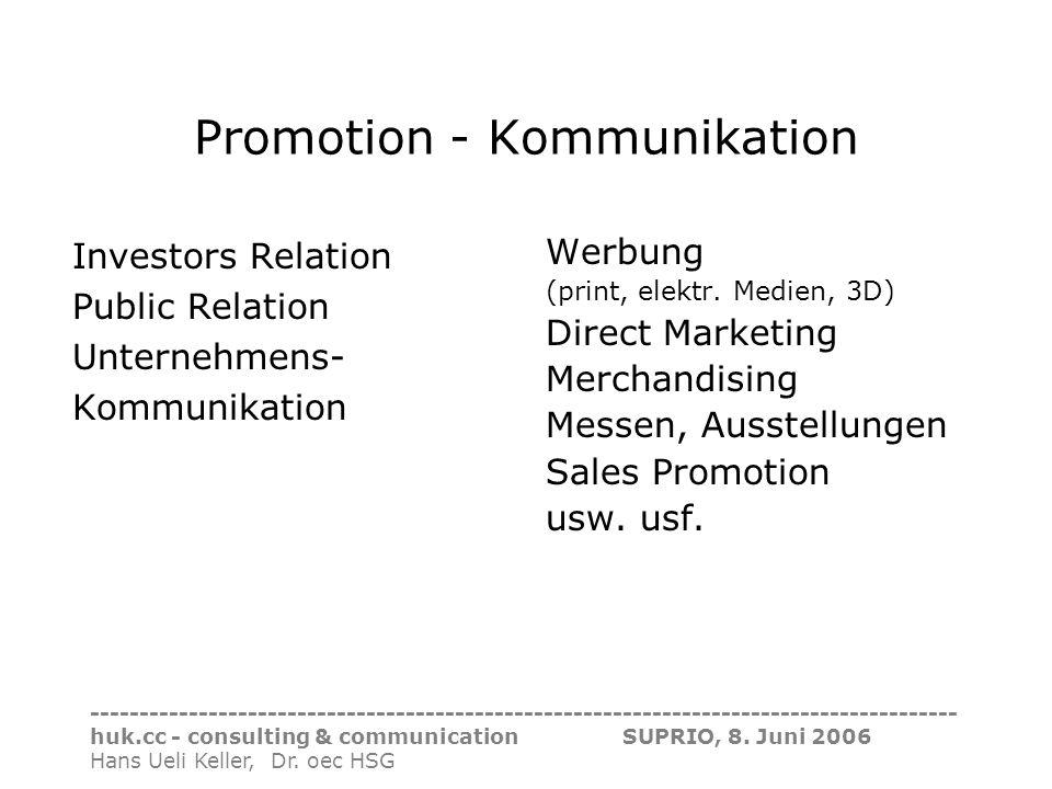 Promotion - Kommunikation