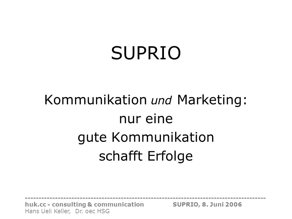 Kommunikation und Marketing: