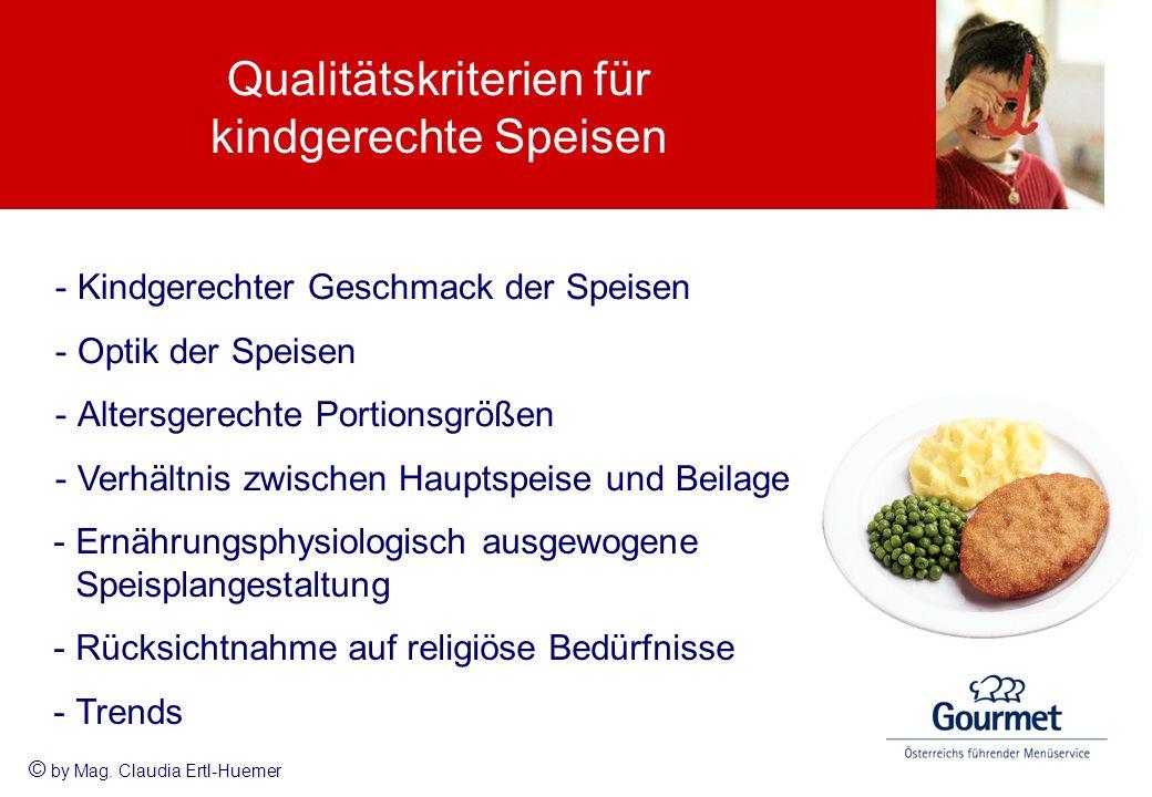 Qualitätskriterien für kindgerechte Speisen