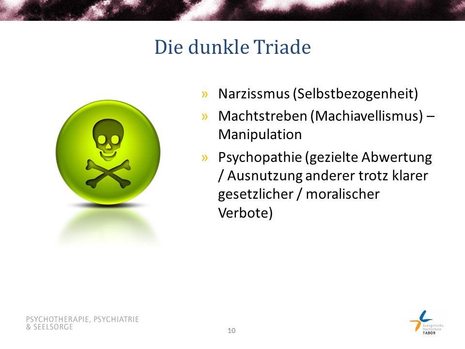 Die dunkle Triade Narzissmus (Selbstbezogenheit)