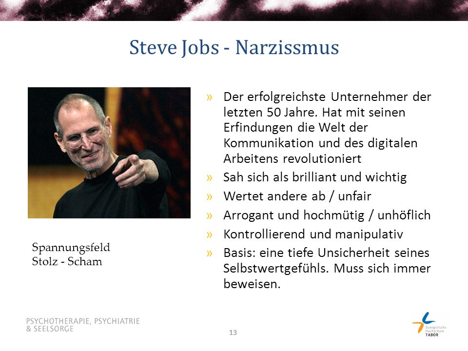 Steve Jobs - Narzissmus