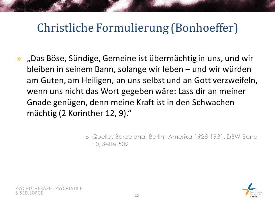 Christliche Formulierung (Bonhoeffer)