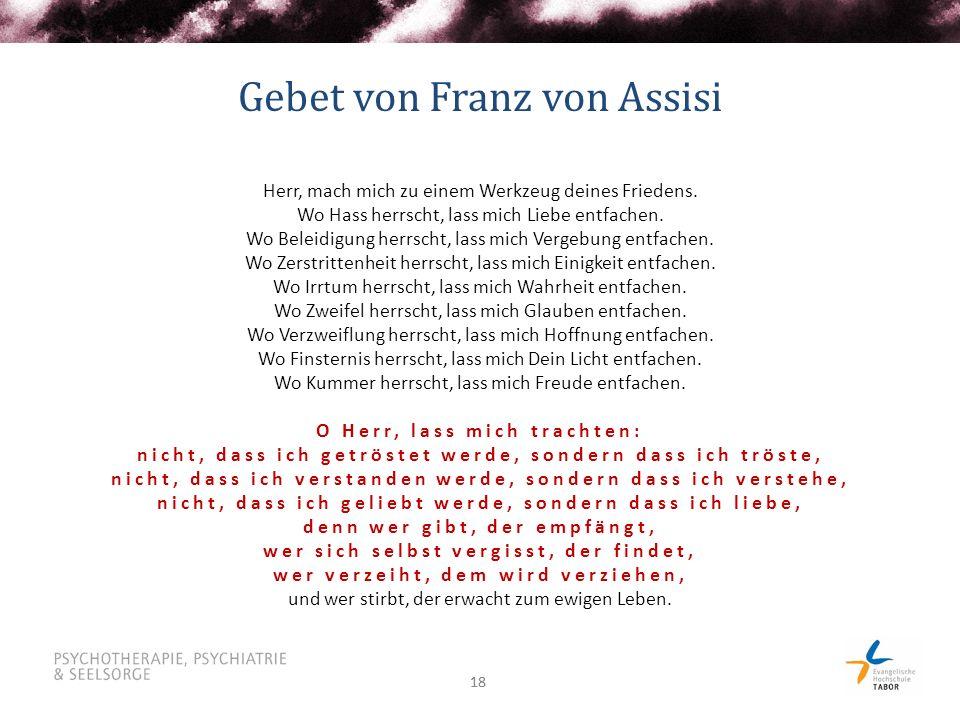 Gebet von Franz von Assisi